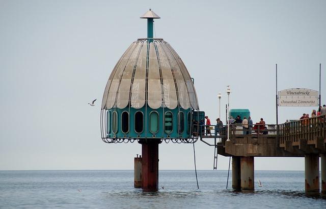 Sea, Pier, Draft, Footbridge, Zinnowitz, The Baltic Sea