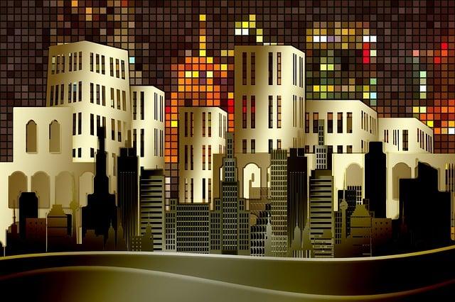 Skyscrapers, City, Skyscraper, Zirkel, Circle