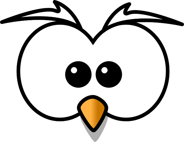 Owl, Hoot, Head, Beak, Cartoon, Zoo, Wildlife, Cute