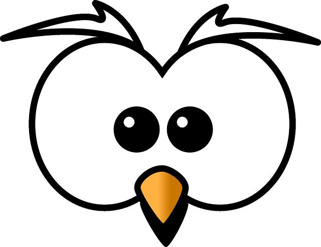 Owl, Hoot, Head, Beak, Cartoon, Zoo, Wildlife, Cute