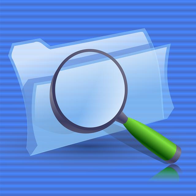 Folders, Glass, Zoom, Lens, Search, Find, Folder
