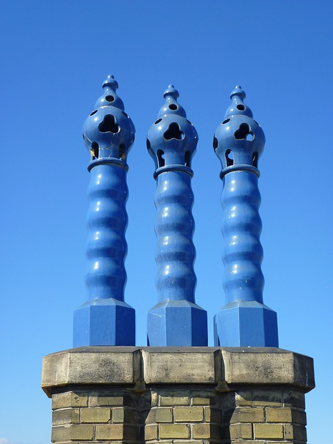 Chimney, Zsolnay, Blue Sky