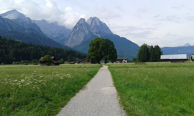 Zugspitze, Nature, Sky, Hiking, Mountains, Landscape