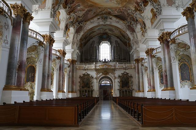 Church, Zwiefalten, Religion, Building, Baroque