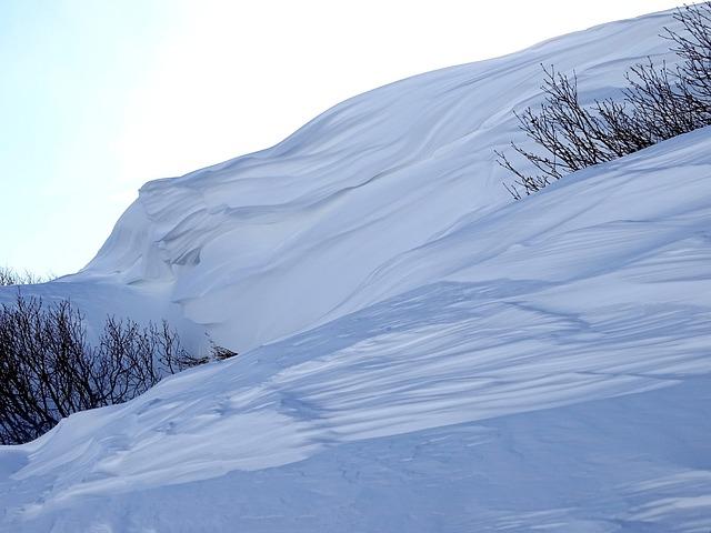 Winter, Snow, Snowdrift, нанос, Cornice, Nature