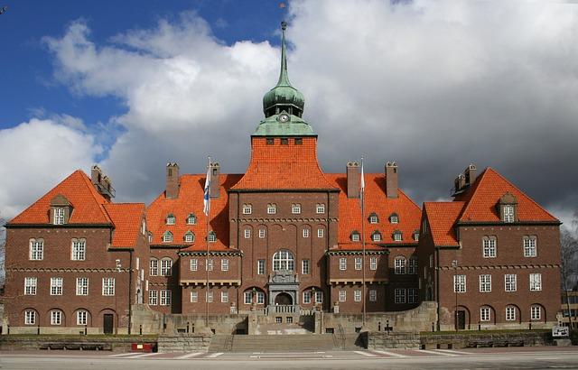 Building, Town Hall, östersund