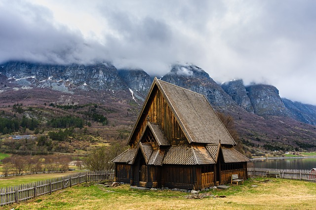 Mountain, Nature, Sky, Landscape, Church, øye